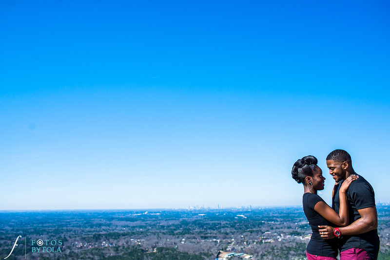 Stone Mountain Engagement Session