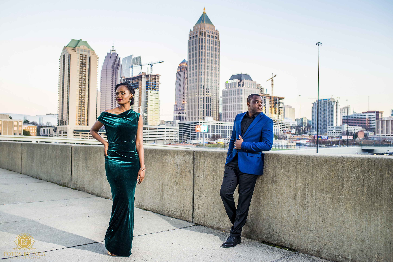 Fotos by Fola | Atlanta Wedding Photographer | Atlanta Botanical Garden | Atlantic Station 17th Street Bridge | Atlanta Skyline Engagement Shoot